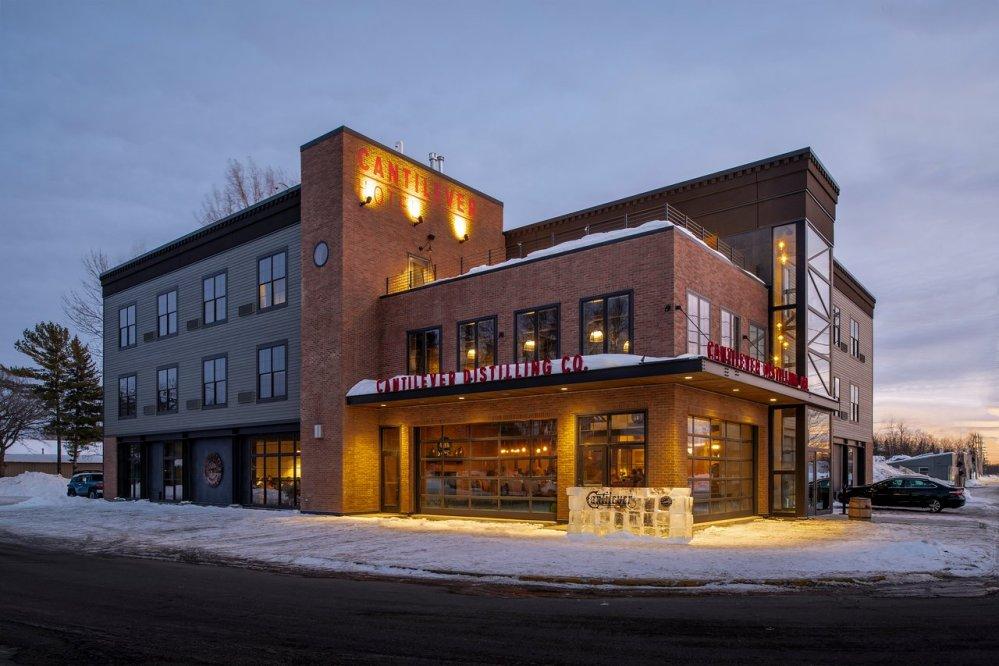 Cantilever Distillery + Hotel exterior