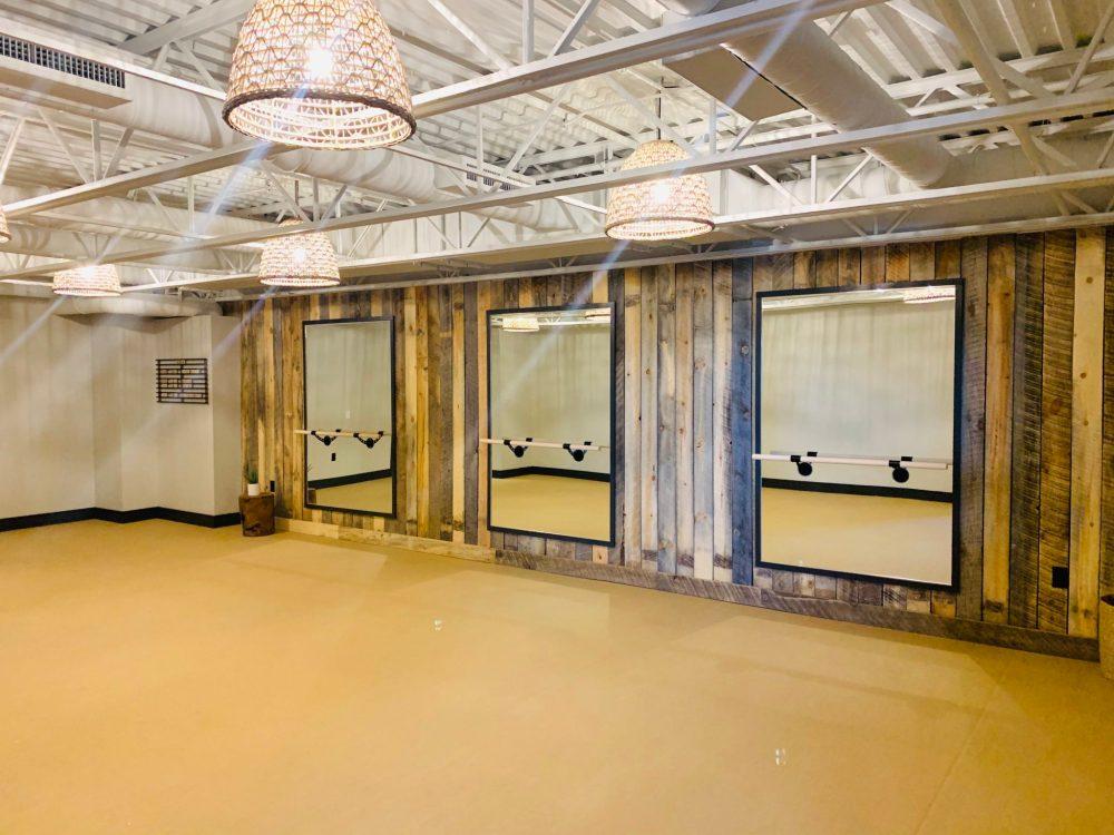 Cantilever Distillery yoga studio