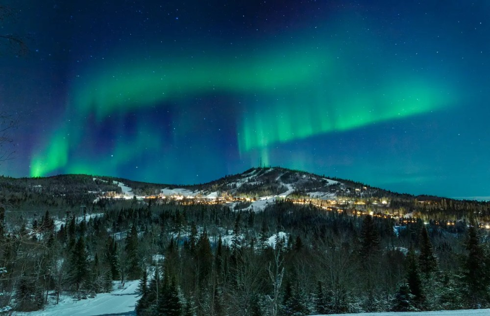 Skiing in Minnesota - The Northern Lights