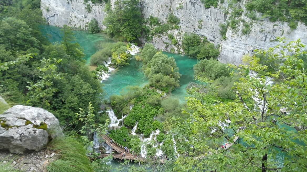 Plitvice lakes from above Croatia
