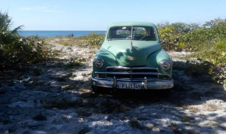 Classic car by the beach, Playa Giron