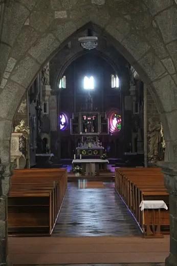 Interior of St. Procopius Cathedral in Trebic