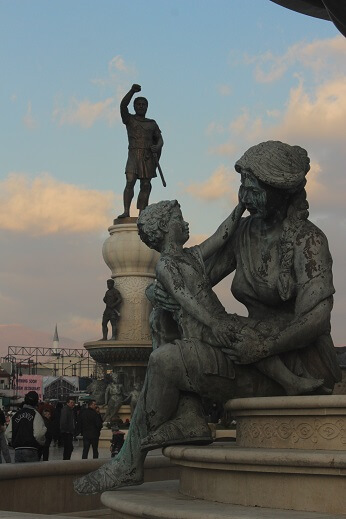 Statues of Skopje, Macedonia 2020