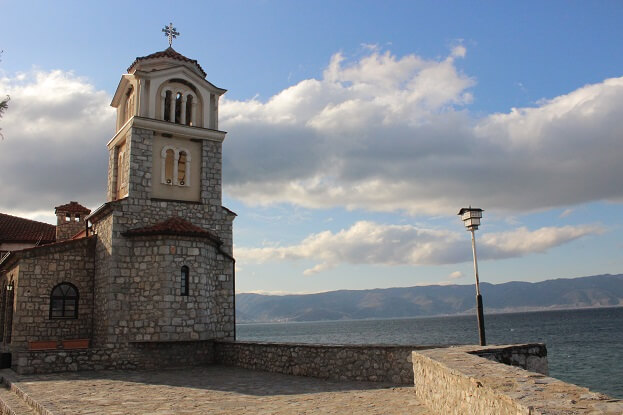 View over Ohrid Lake from St. Naum Church