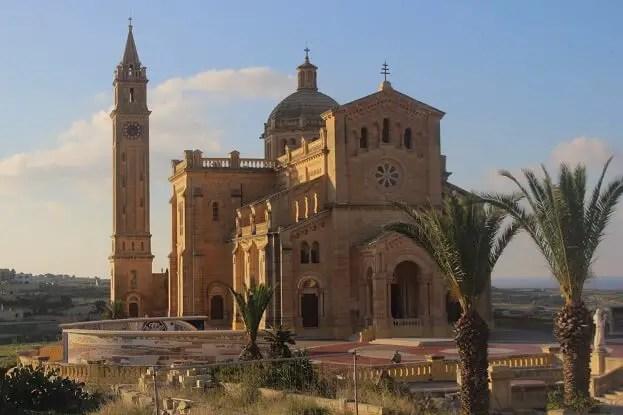 Ta Pinu Church on the island of Gozo, Malta