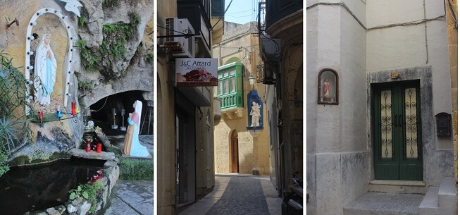 Religious statues on the streets of Malta