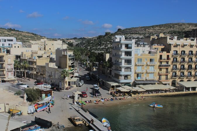 Xlendi seen from the cliff path