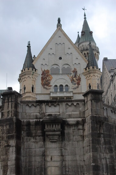 interior court of Neuschwanstein Schloss Ludwig