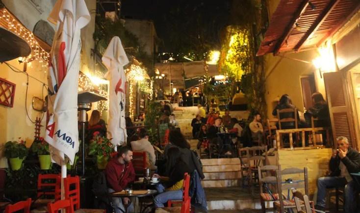 Plaka in December, Athens, Grece