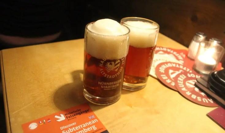 Red beer at Altstadthof brewery, Germany