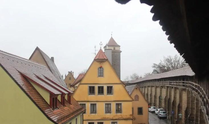 City walls, Rothenburg ob der Tauber