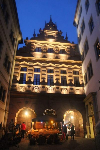 Entrance to the backyard of the townhall, Würzburg, Germany