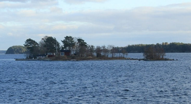 Isolated island in the archipelago of Stockholm