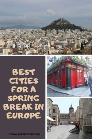 best cities for a spring break in Europe recommendations