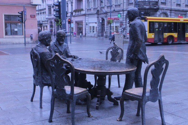 The three kings of the textile industry of Lodz, factory owners Izrael Poznański, Henryk Grohman and Karol Scheibler