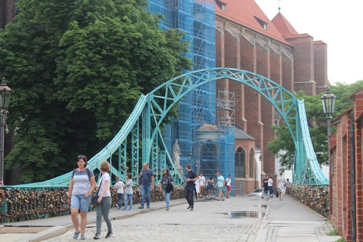 Lover's bridge - one of the best things to do when you visit Wroclaw