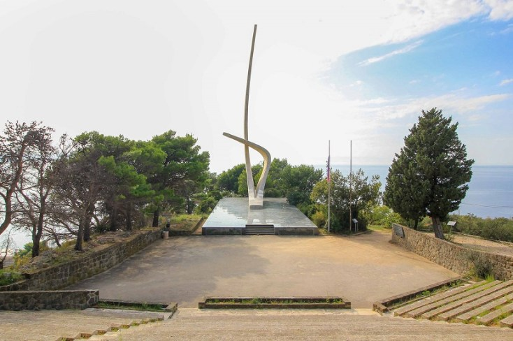 Seagull Wing Monument, Podgora, Croatia, communism and red tourism in Europe