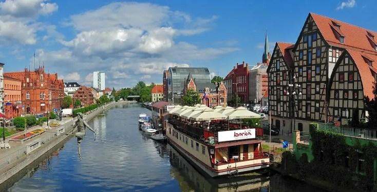 Bydgoszcz canal panorama