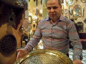 L'Art des Fibules where we bought our bronze platters in Fes