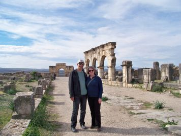 Volubilis, Roman city built 218AD under reign of Emperor Macrin