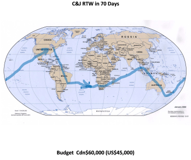 RTW Route Map