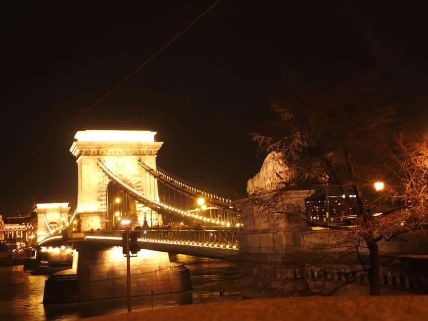 Széchenyi Chain Bridge in Budapest