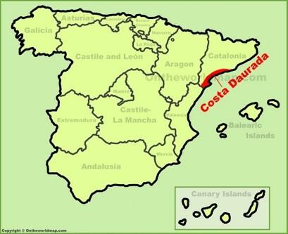 Costa Dorada Map