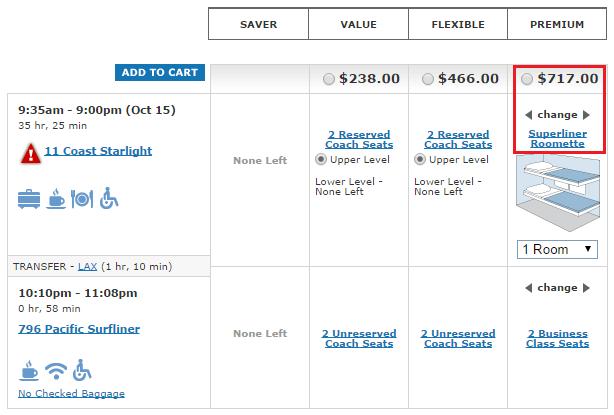Amtrak Paid S Superline Roomette