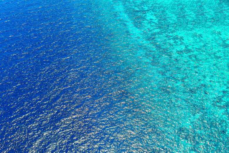bird s eye view of sea water