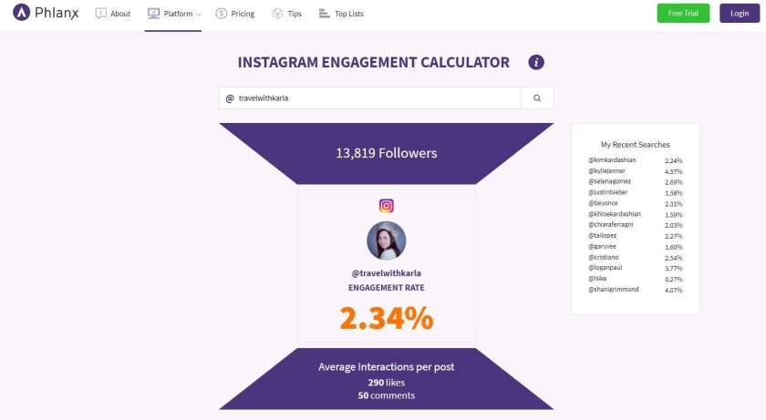 Instagram Engagement Calculators