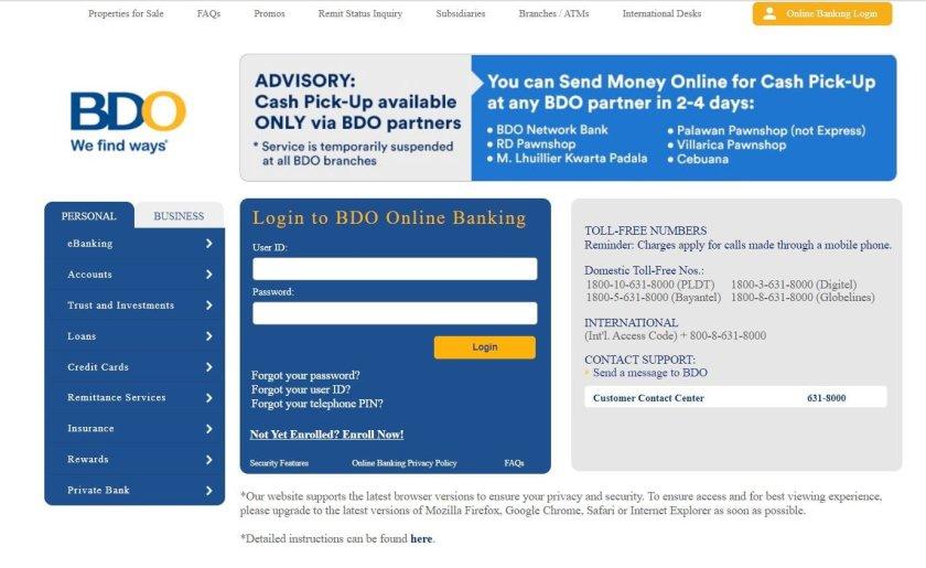 Send Money from BDO to GCash