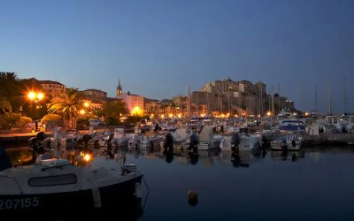 Calvi marina by night – capturing great photos after sunset