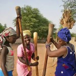 Pounding grain in Senegal