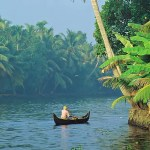 Drifting along the backwaters of Kerala, India