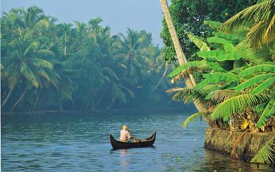 Drifting along the backwaters of Kerala, India