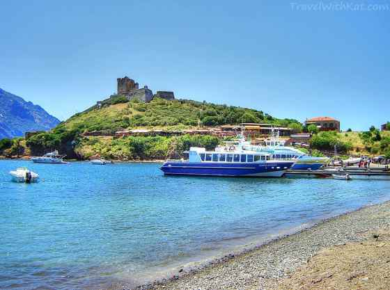Girolata beach and harbour