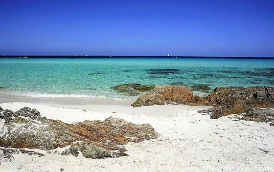 One of Corsica's many stunning beaches