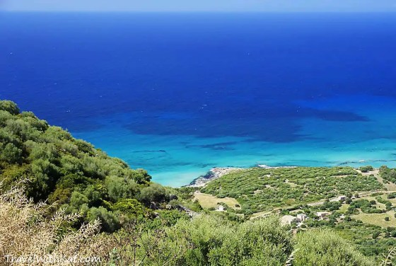 View from the Corsican hills to the sea