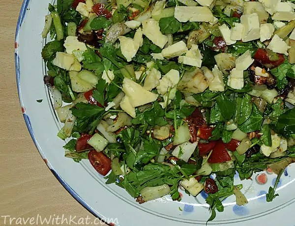 Winter salad from Palestine