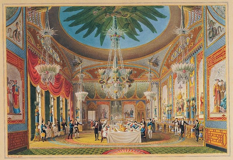 The oriental splendour of the Royal Pavilion, Brighton