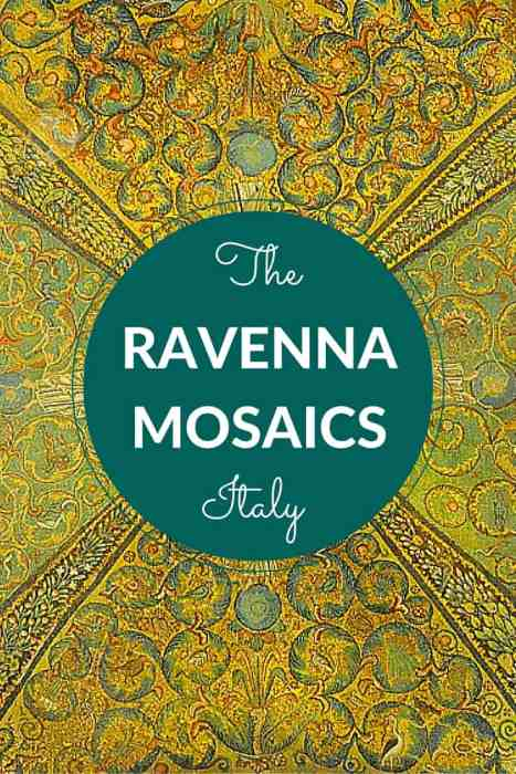 The beautiful mosaics of Ravenna in Italy