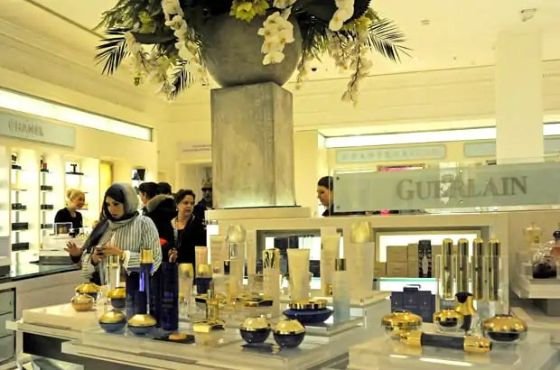 Harrods luxury shopping