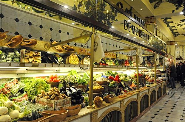 Harrods food halls, fruit and vegetables