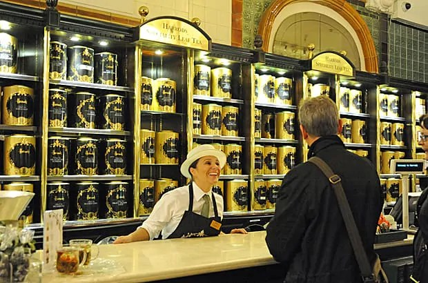 Harrods tea selection, London