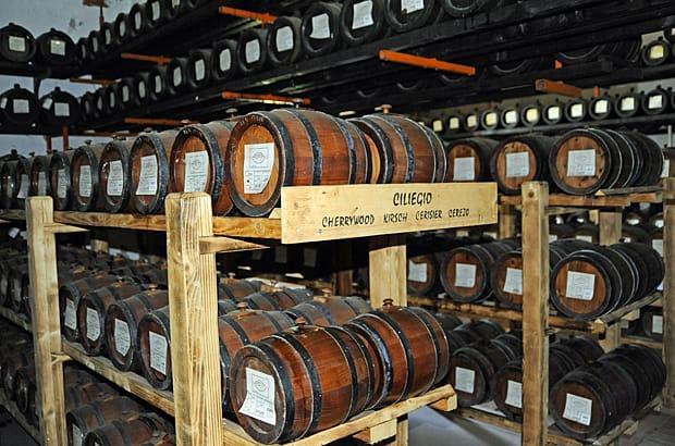 Cherry wood barrel