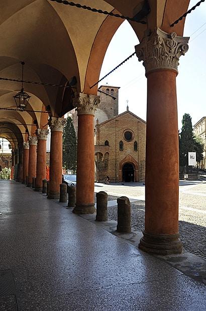 Porticoes of piazza santo Stefano, Bologna