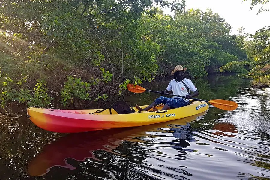 Kayaking in Tanji Creek, The Gambia