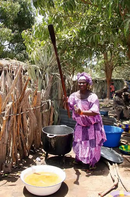Cooking in The Gambia, Jola tribe