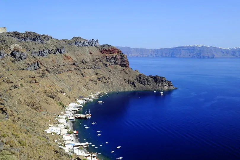View of the Santorini Caldera from Manolas, Thirassia