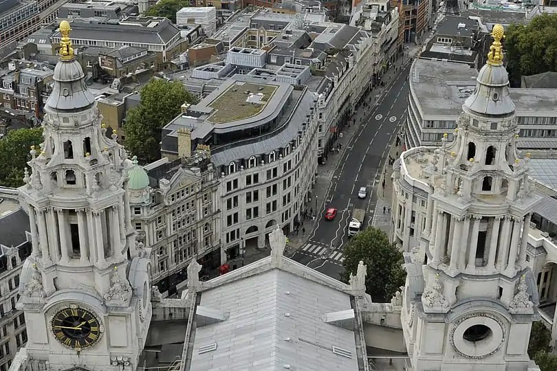 View of London from St Paul's Golden Gallery